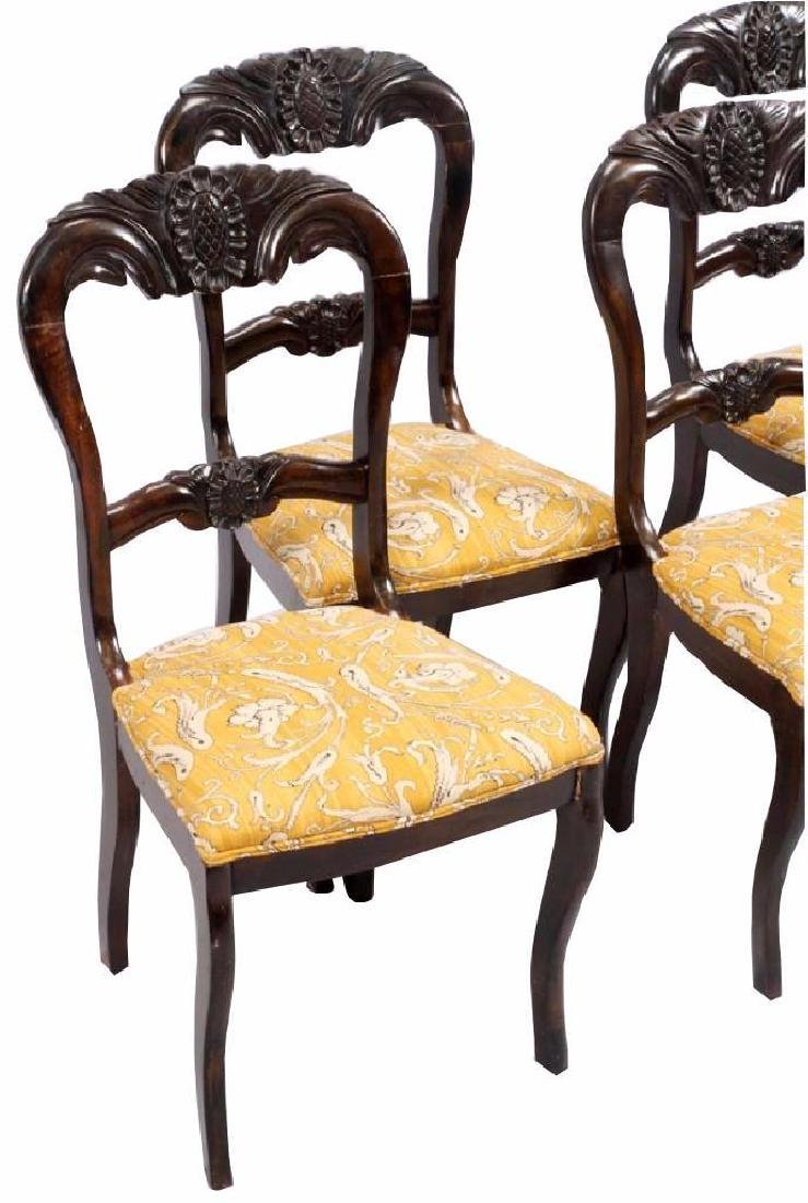 VICTORIAN BALLOON BACK SIDE CHAIRS FOUR - 2
