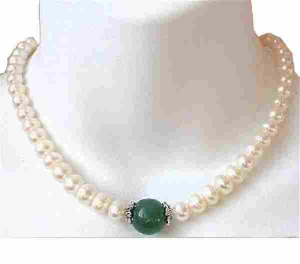 """Fabulous: 18"""", 9-10mm Real South Sea White Pearls with"""