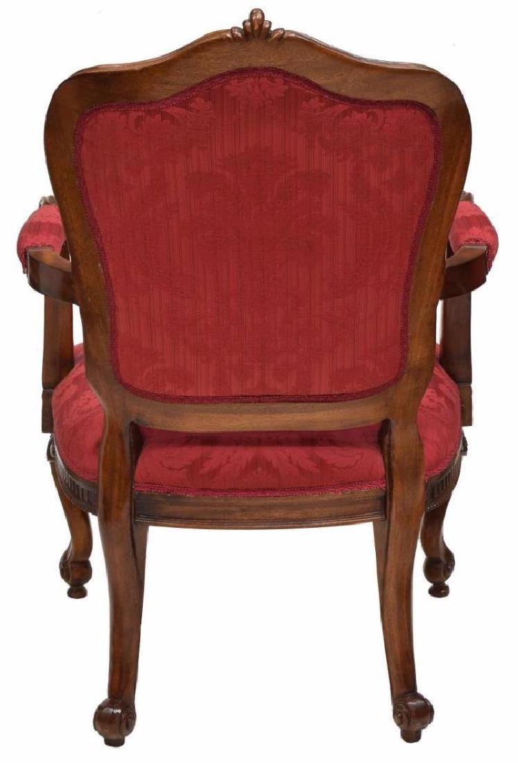 (4) Louis Xv Style Carved Back Arm Chairs - 8