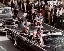 John F Kennedy  Jackie In Dallas Motorcade