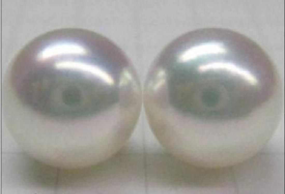 Huge 13-14mm Perfect White South Sea Pearl 14kt