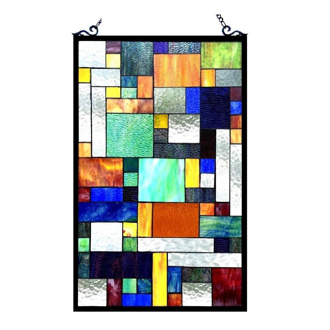 Art Deco Tiffany-style art Glass Hanging Window Panel