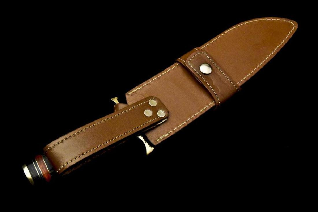 Custom Hand Made Damascus Steel Blade| Hunting Knife By - 10