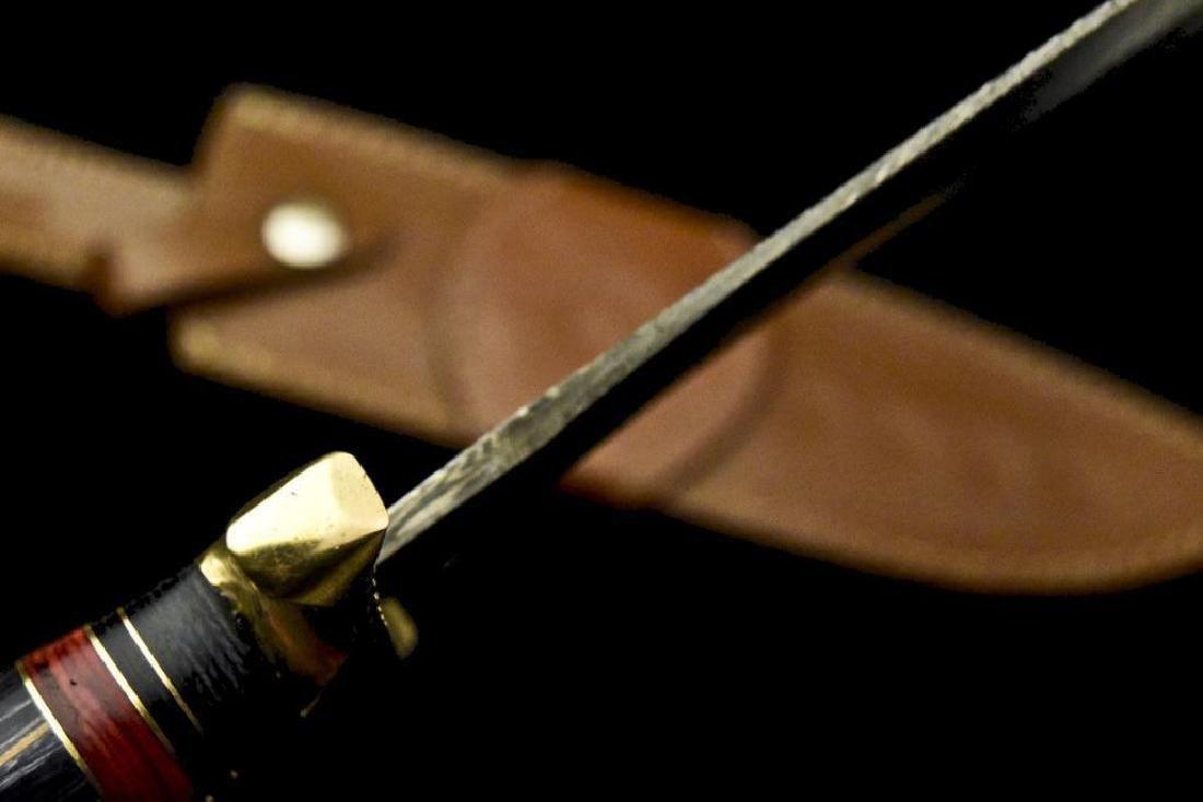 Custom Hand Made Damascus Steel Blade  Hunting Knife By - 8