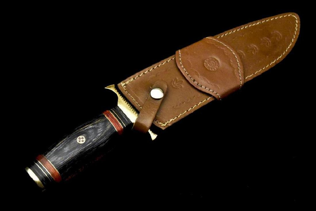 Custom Hand Made Damascus Steel Blade  Hunting Knife By - 9