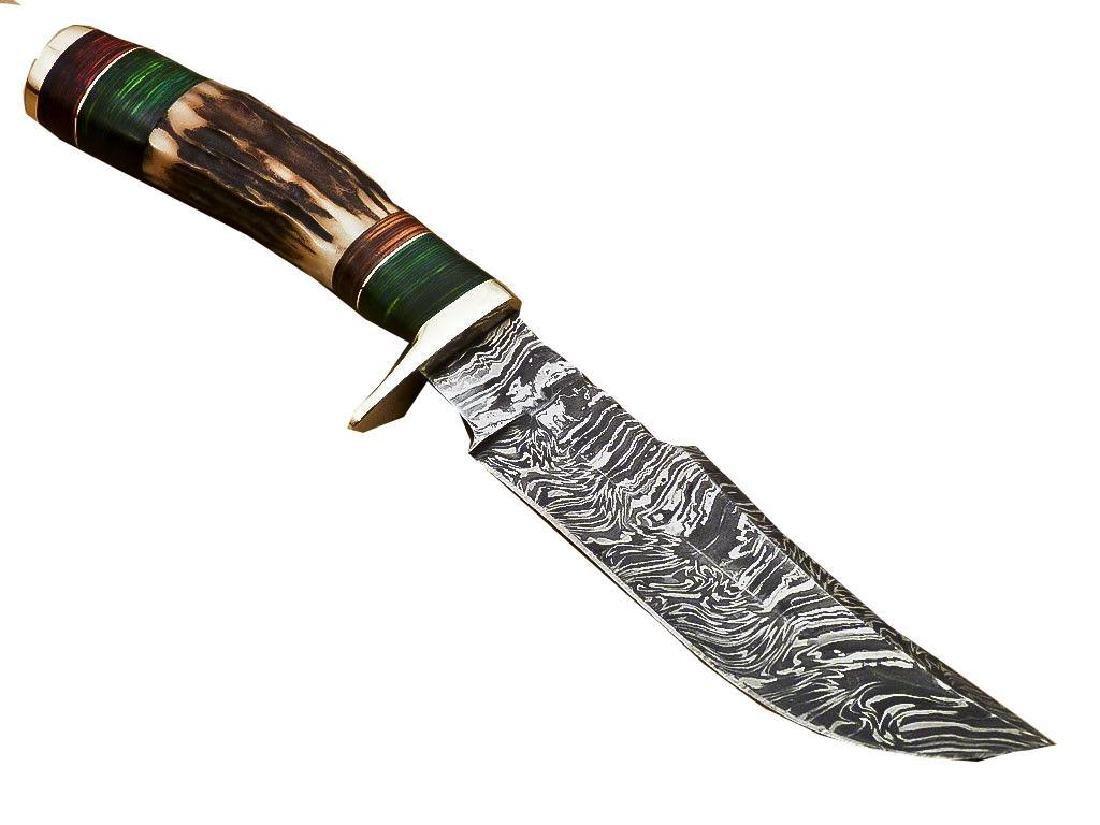 Rody Stan Custom Hand Forged Damascus Steel Hunting - 3