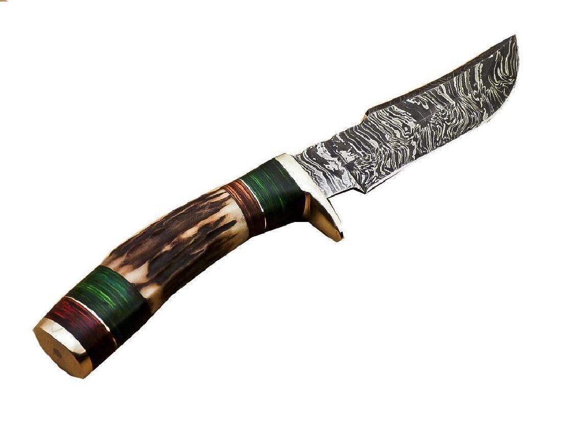 Rody Stan Custom Hand Forged Damascus Steel Hunting - 4