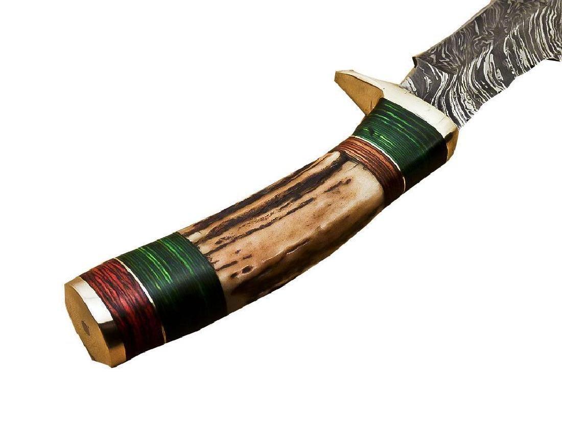 Rody Stan Custom Hand Forged Damascus Steel Hunting - 7