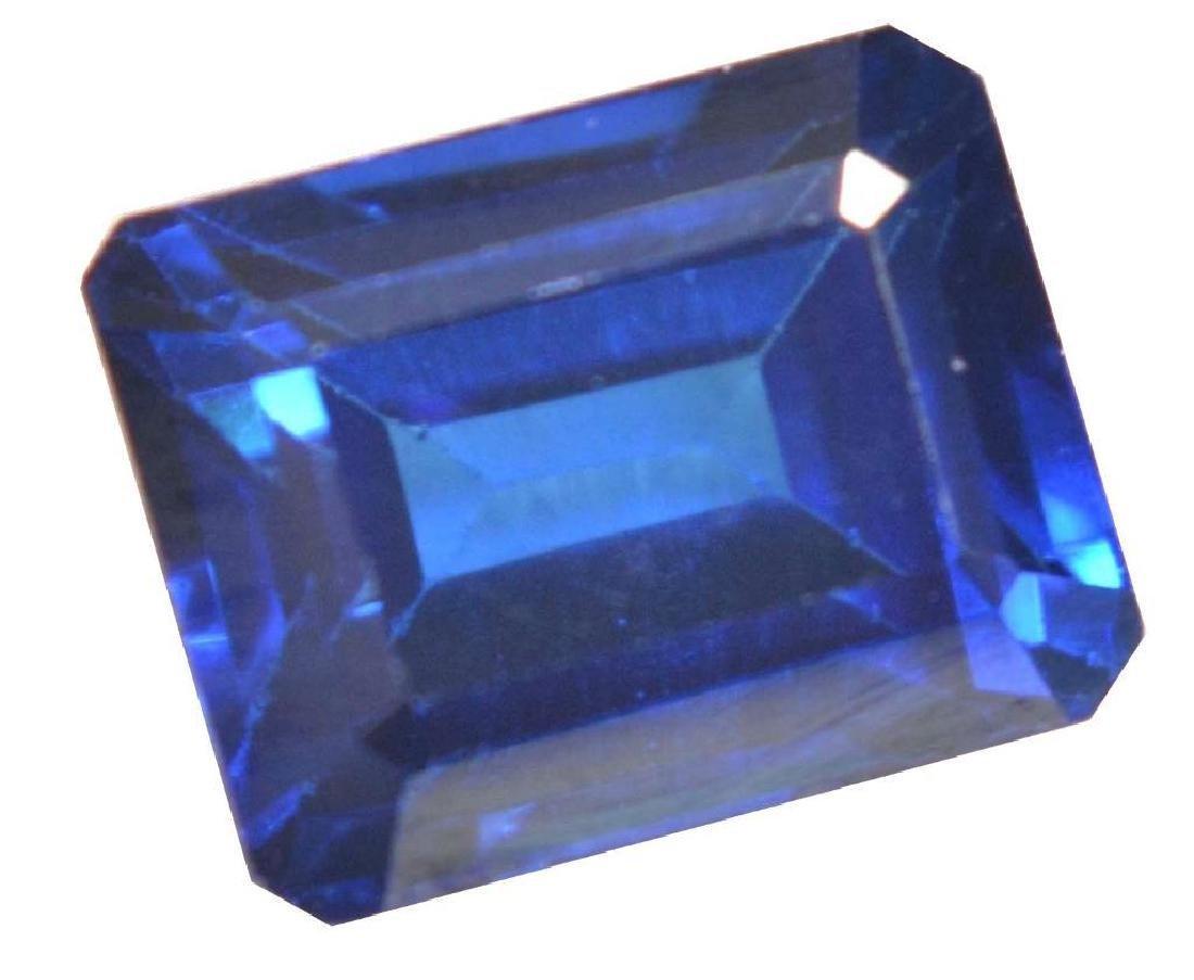 6.18 Ct Natural Ceylon Royal Blue Sapphire Emerald Cut
