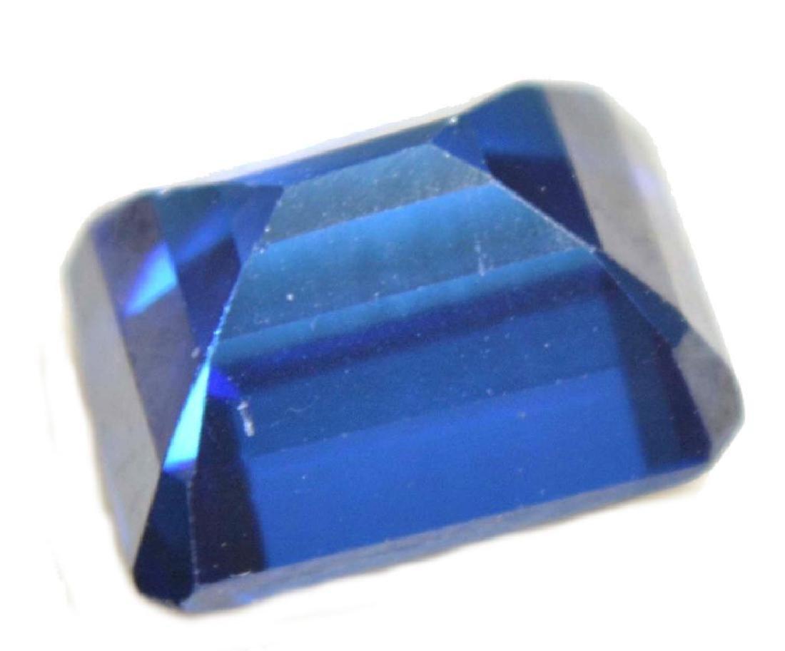 6.18 Ct Natural Ceylon Royal Blue Sapphire Emerald Cut - 2