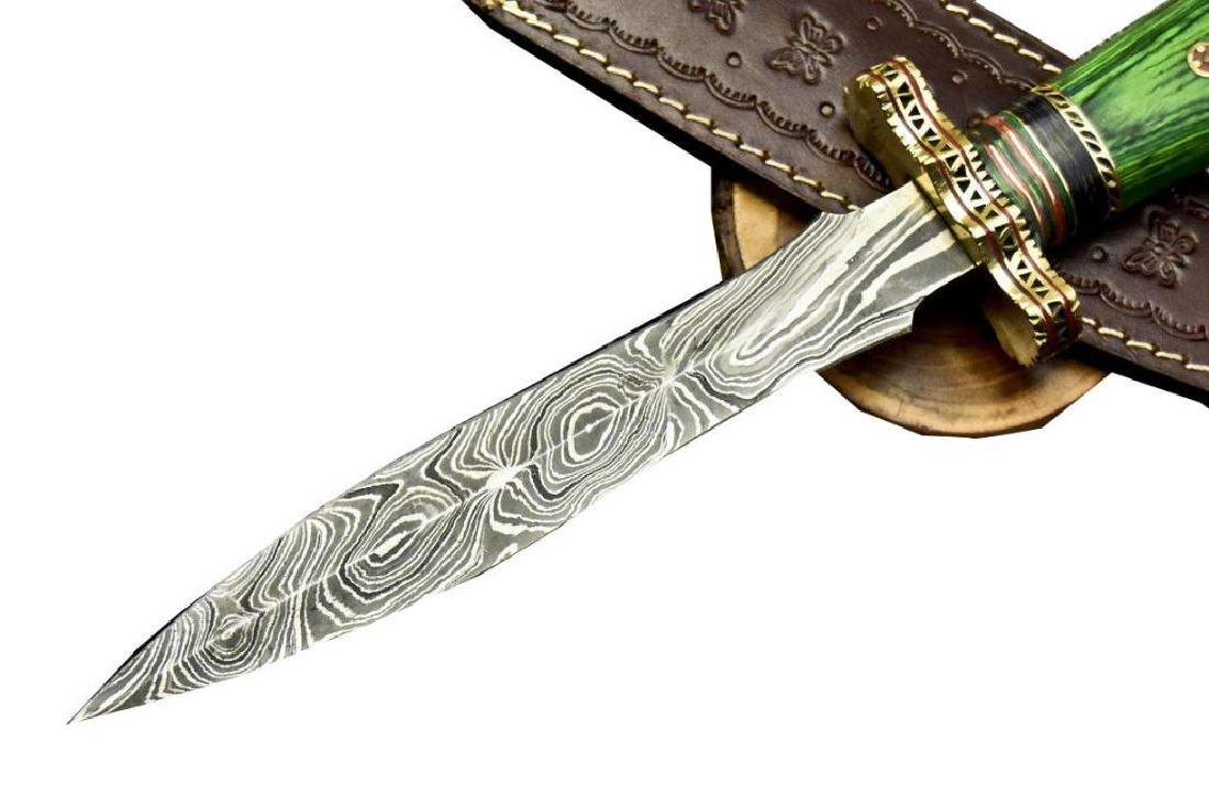 Stephen Henry Custom Hand Forged Damascus Steel Dagger - 5