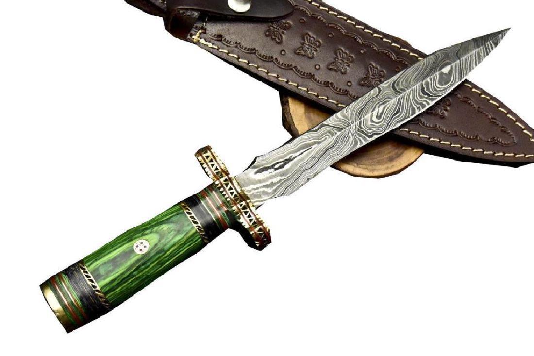 Stephen Henry Custom Hand Forged Damascus Steel Dagger - 7