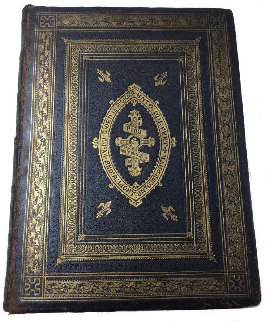 Large Antique Holy Bible The People's Bible Illustrated
