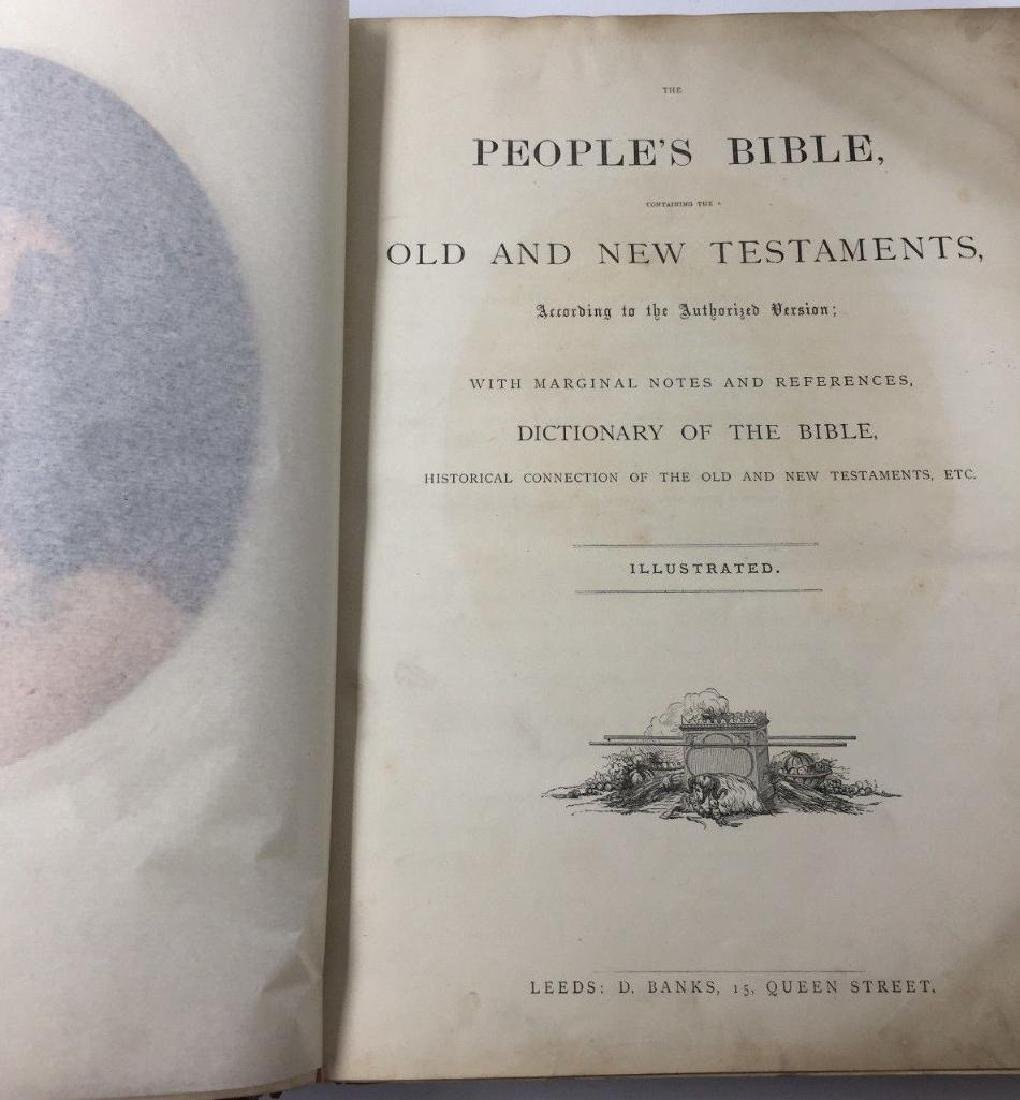 Large Antique Holy Bible The People's Bible Illustrated - 4