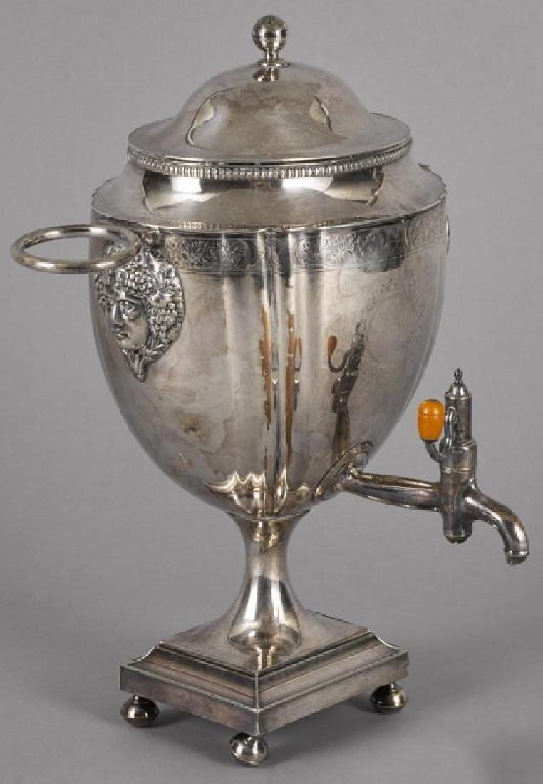 19thc English Sheffield Silver Plate Water Urn