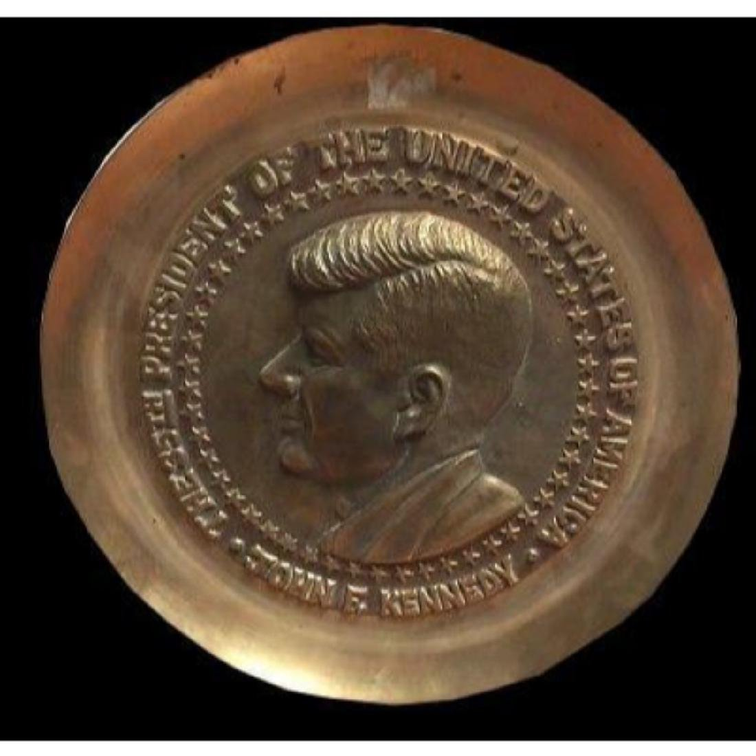 President John F Kennedy Brass Commemorative Decorator