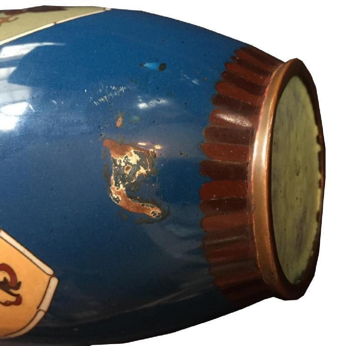19thc Japanese Meiji Cloisonne Cabinet Vase - 5