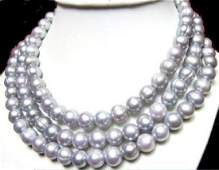 50 Inch Huge Aaa+ 11-13mm South Sea Gray Pearl Necklace