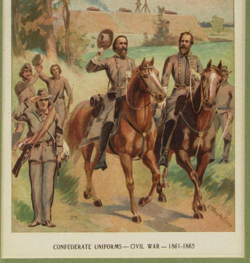 (6) Civil War Engravings, Lithos, Generals - 3