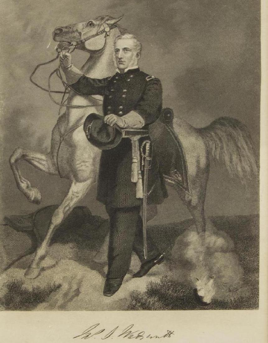 (6) Civil War Engravings, Lithos, Generals - 4