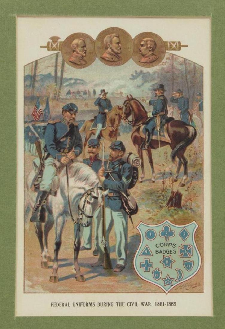 (6) Civil War Engravings, Lithos, Generals - 5
