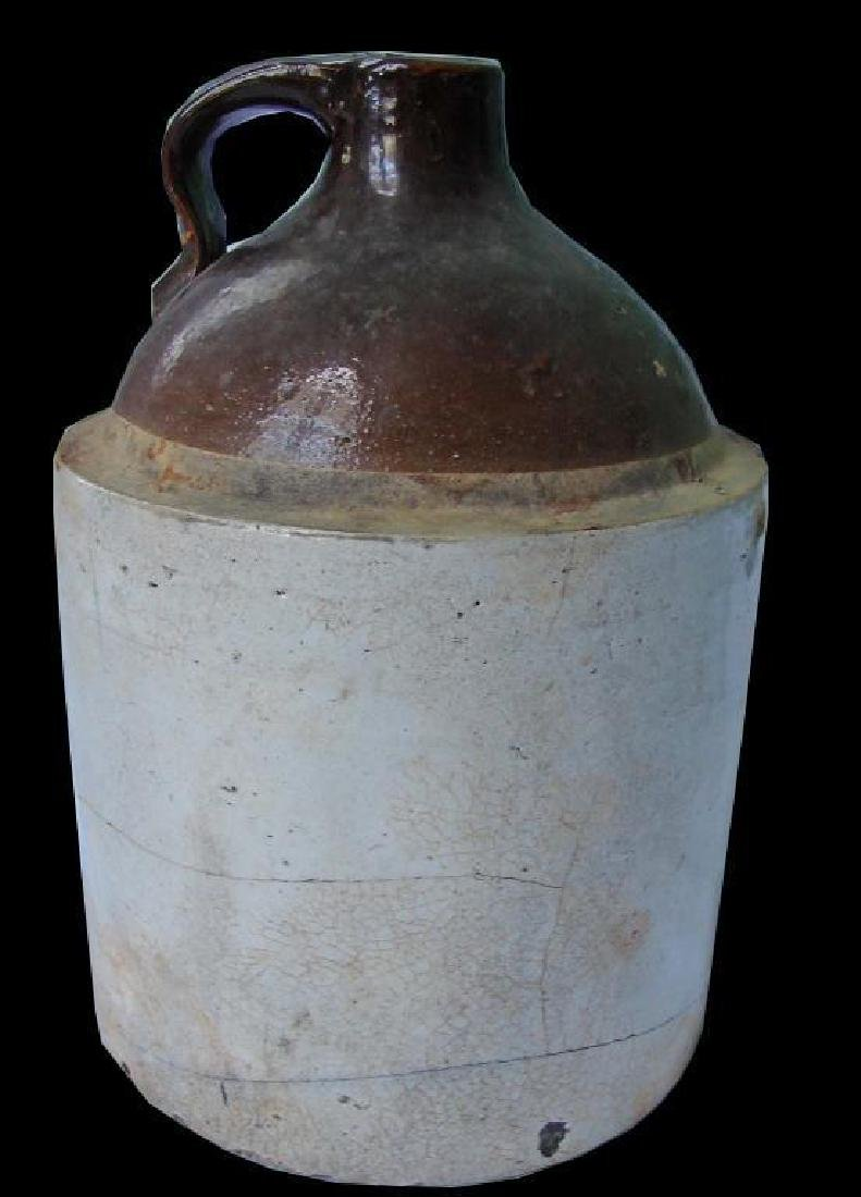 Antique Mid 19th Century Stoneware Whiskey Jug