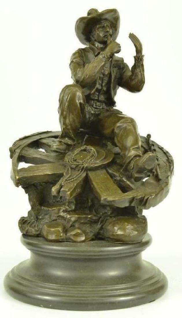Western Cowboy Bronze Sculpture