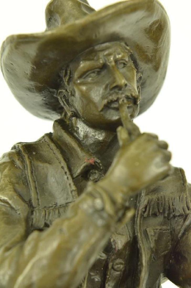Western Cowboy Bronze Sculpture - 5