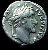 Ancient Roman Silver Coin Denarius Antoninus Pius