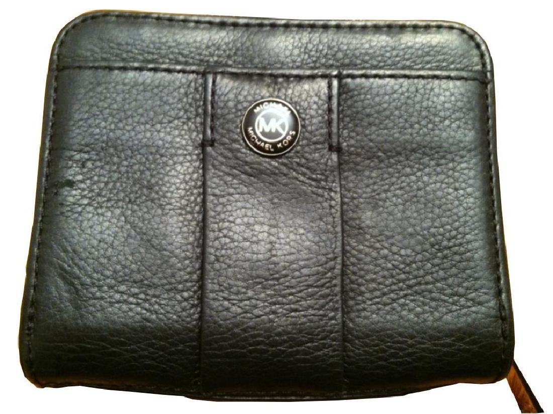 Michael Kors Bi-fold Black Leather Wallet - 2