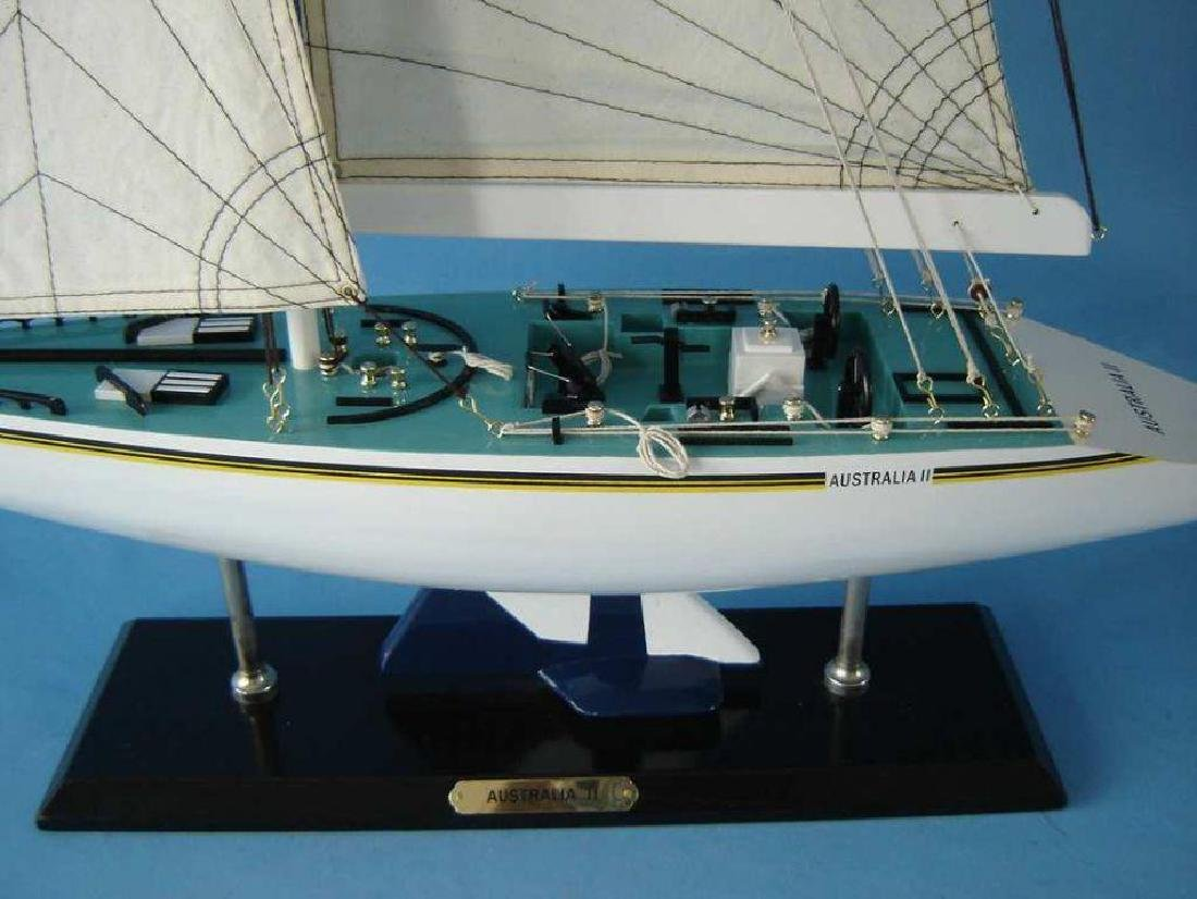 "Wooden Australia 2 Limited Model Yacht 40"" - 2"