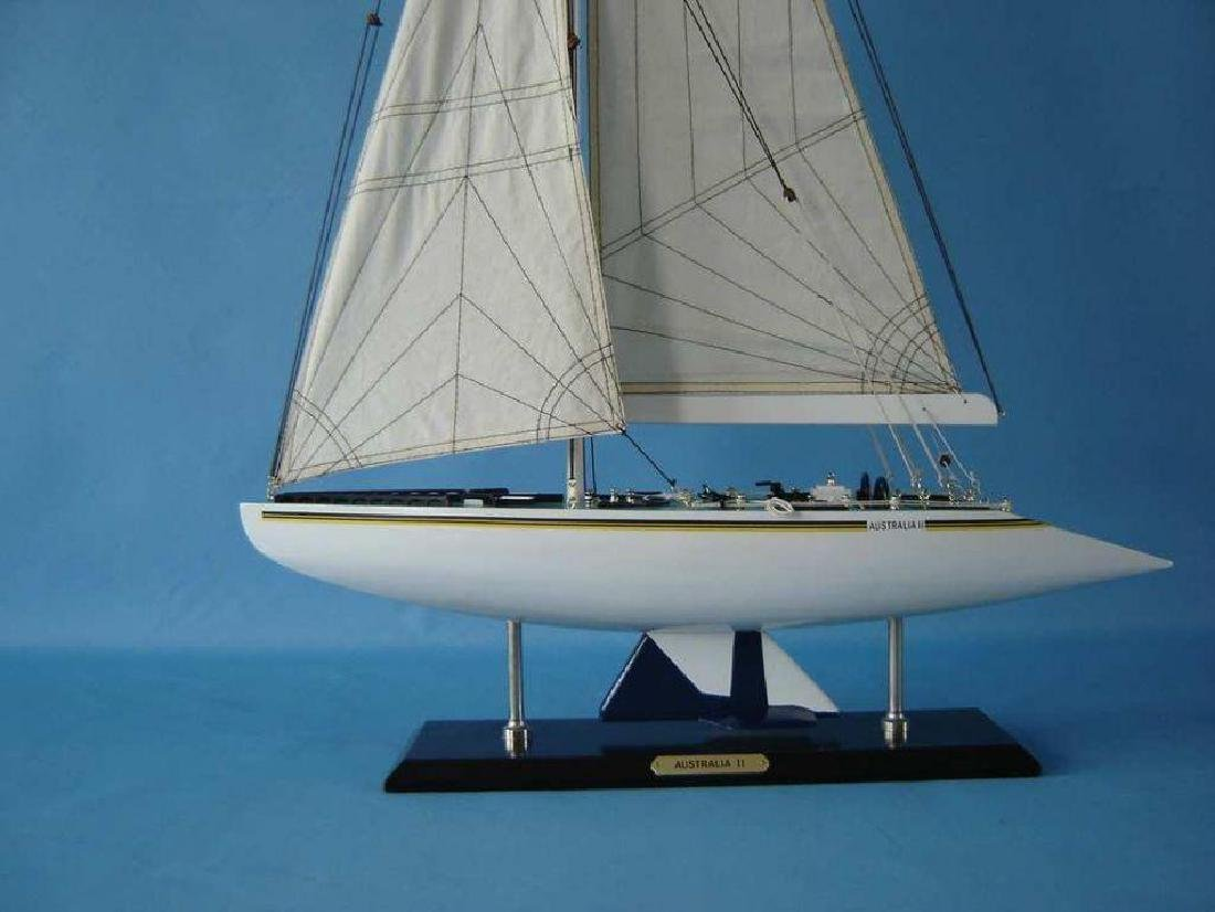 "Wooden Australia 2 Limited Model Yacht 40"" - 3"