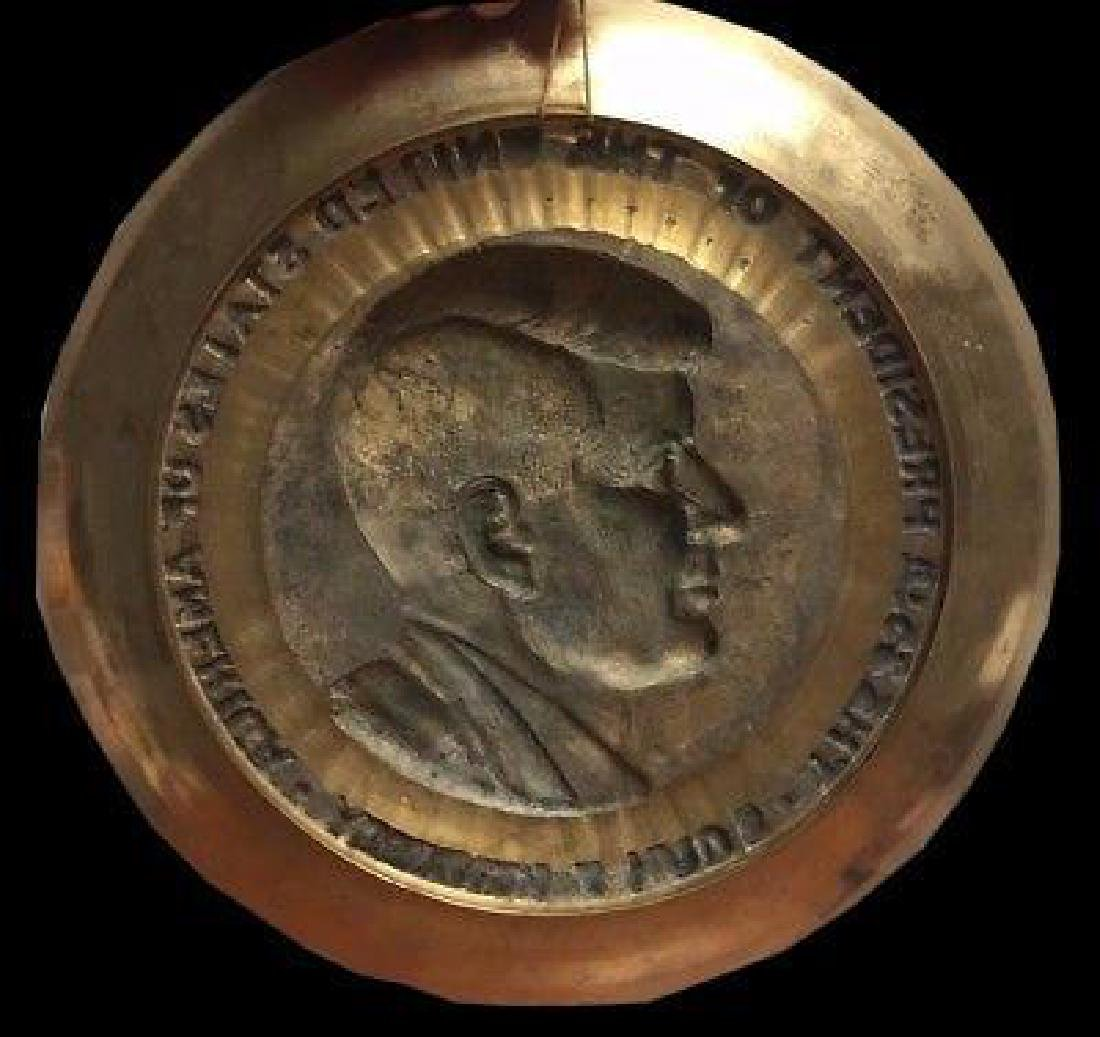 President John F Kennedy Brass Commemorative Decorator - 2