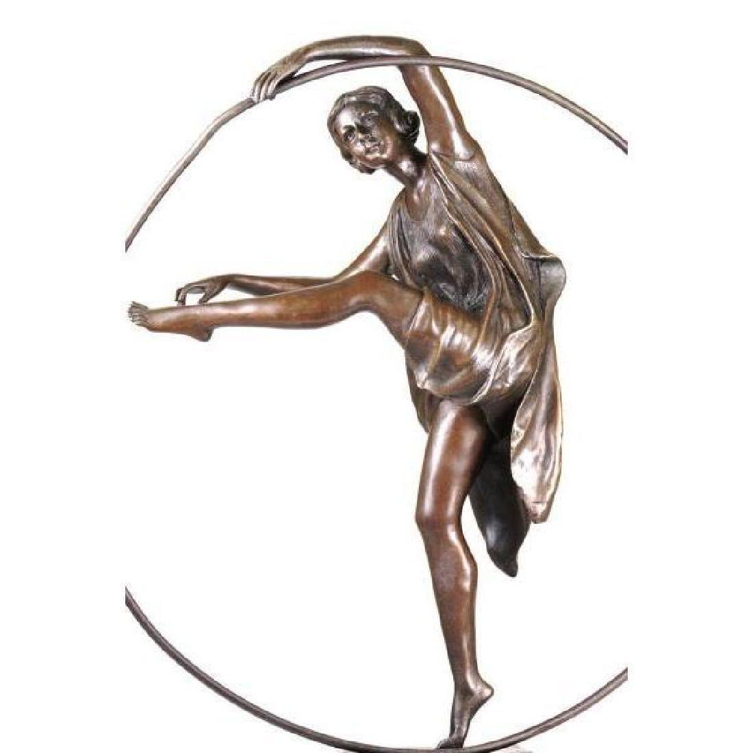 signed Art Deco Godard Bronze Dancer Sculpture