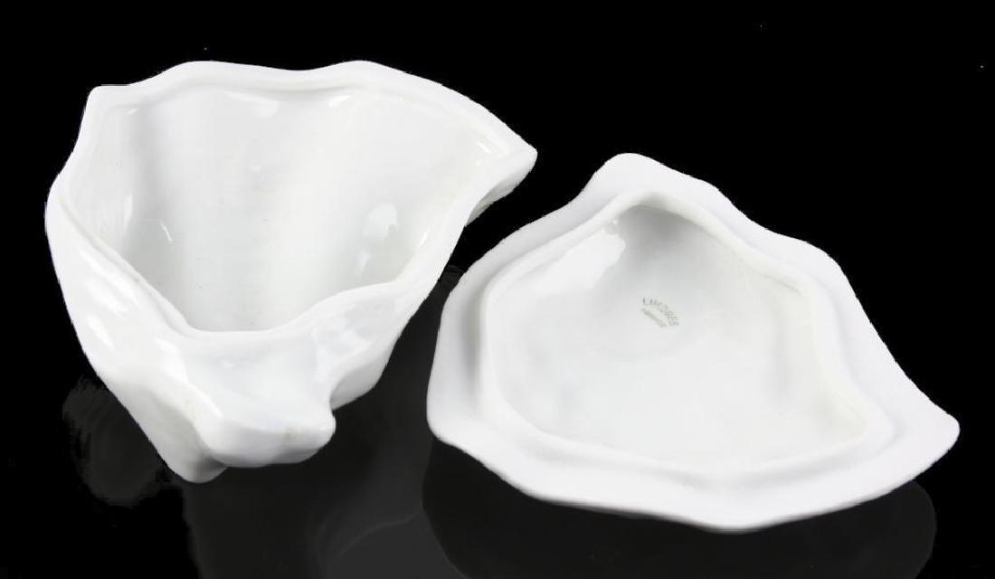 Limoges Porcelain Oyster Shell Trinket Box - 3