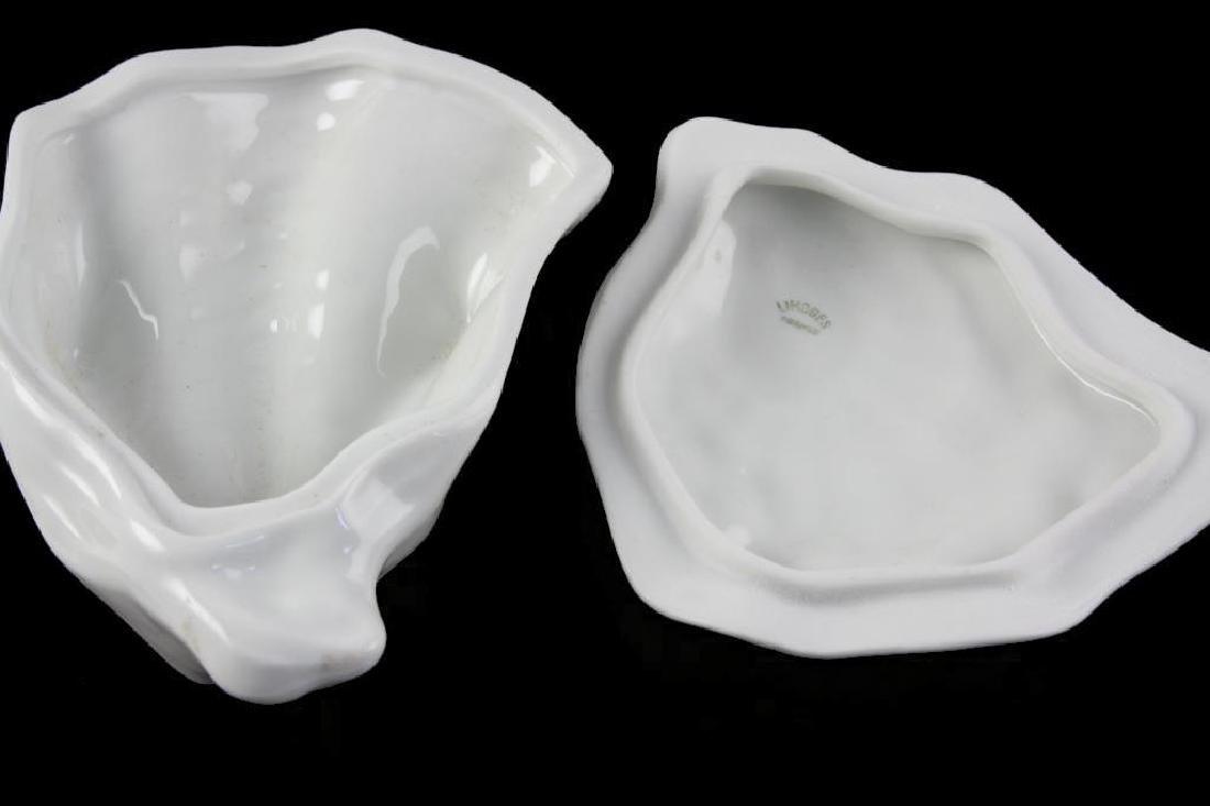 Limoges Porcelain Oyster Shell Trinket Box - 4