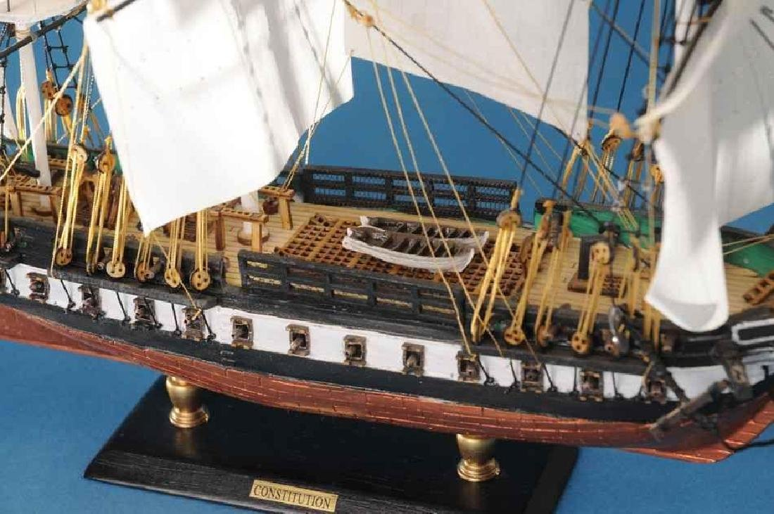 "USS Constitution Limited Tall Model Ship 20"" - 4"