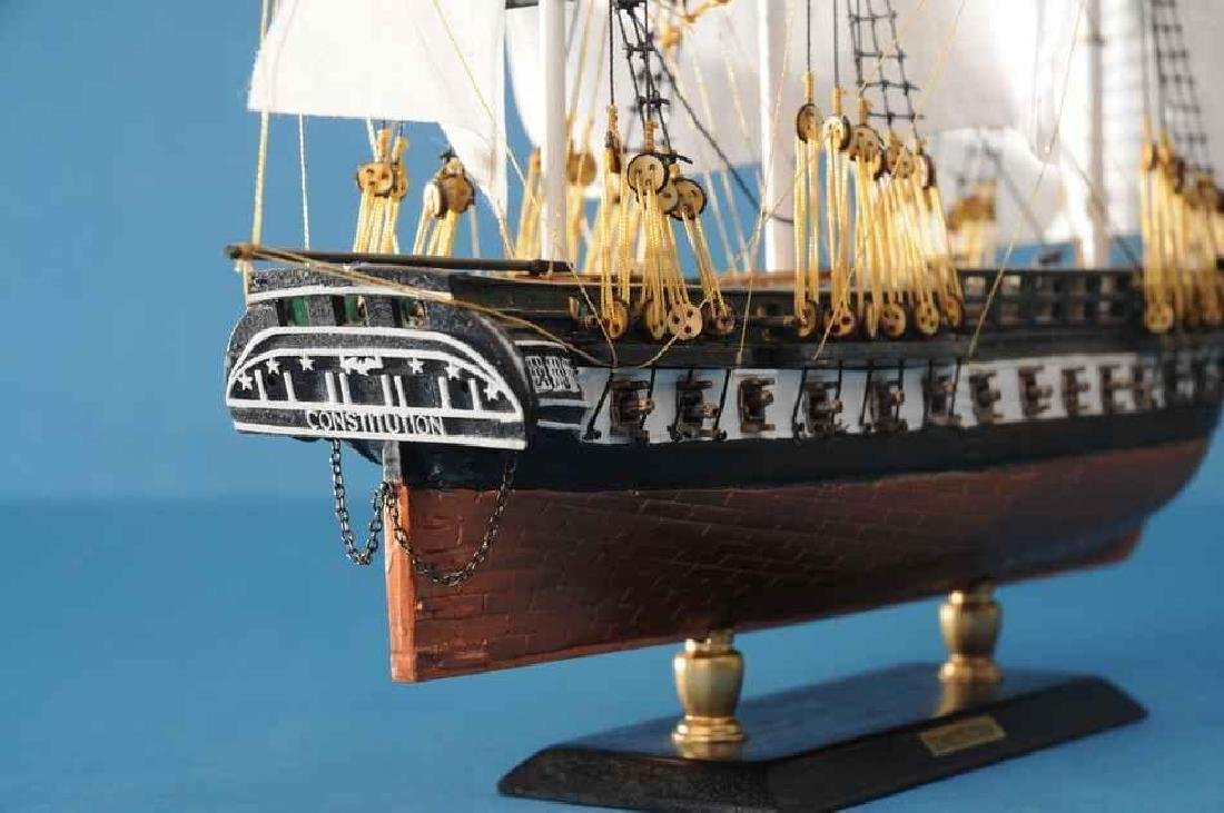 "USS Constitution Limited Tall Model Ship 20"" - 6"