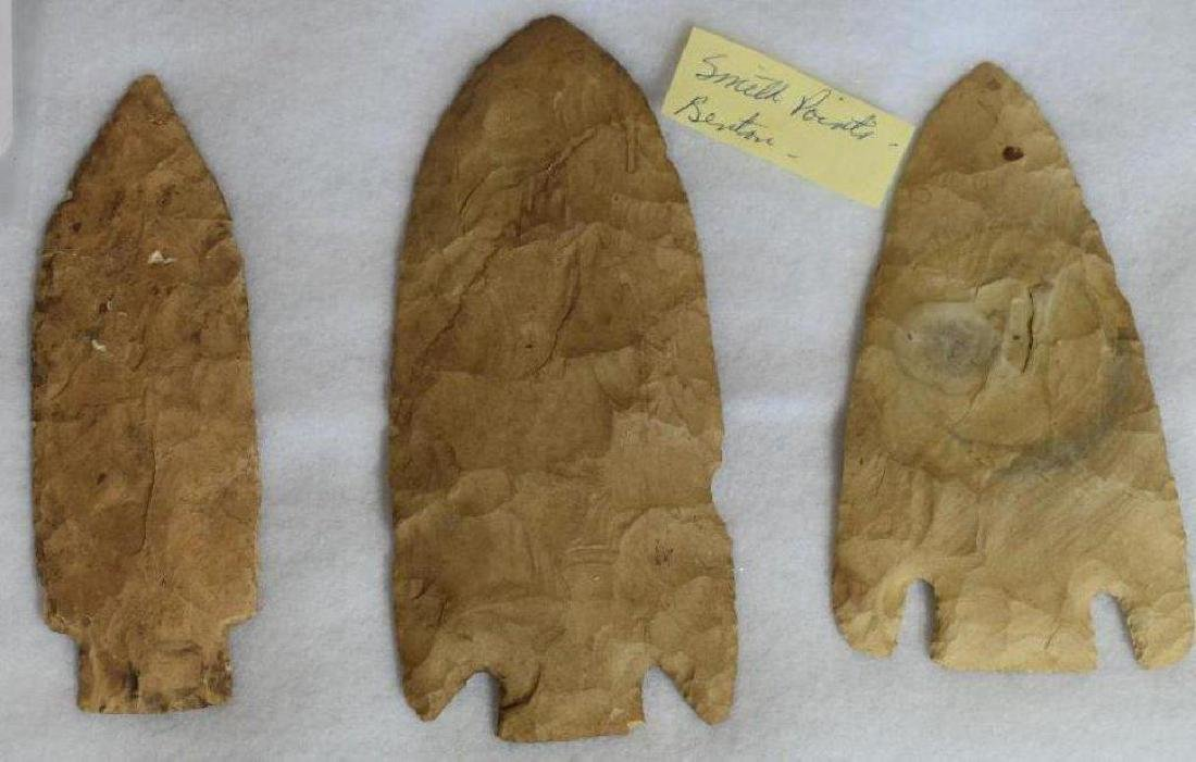 3 Large Arrowhead Spear Points