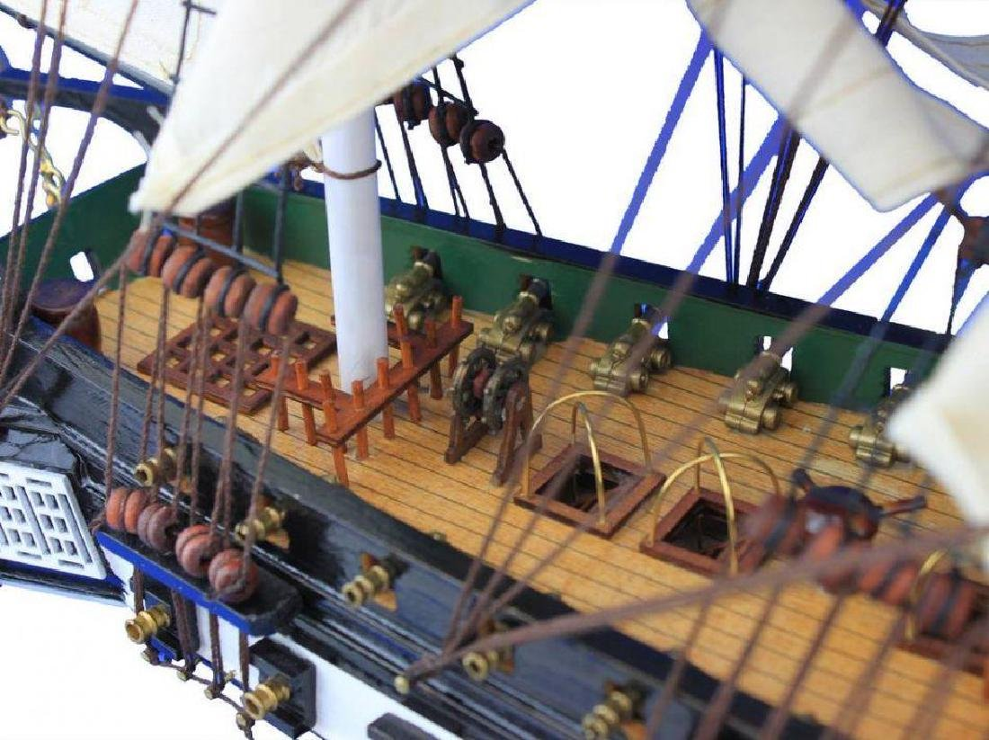 """Wooden USS Constitution Tall Model Ship 24"""" - 3"""