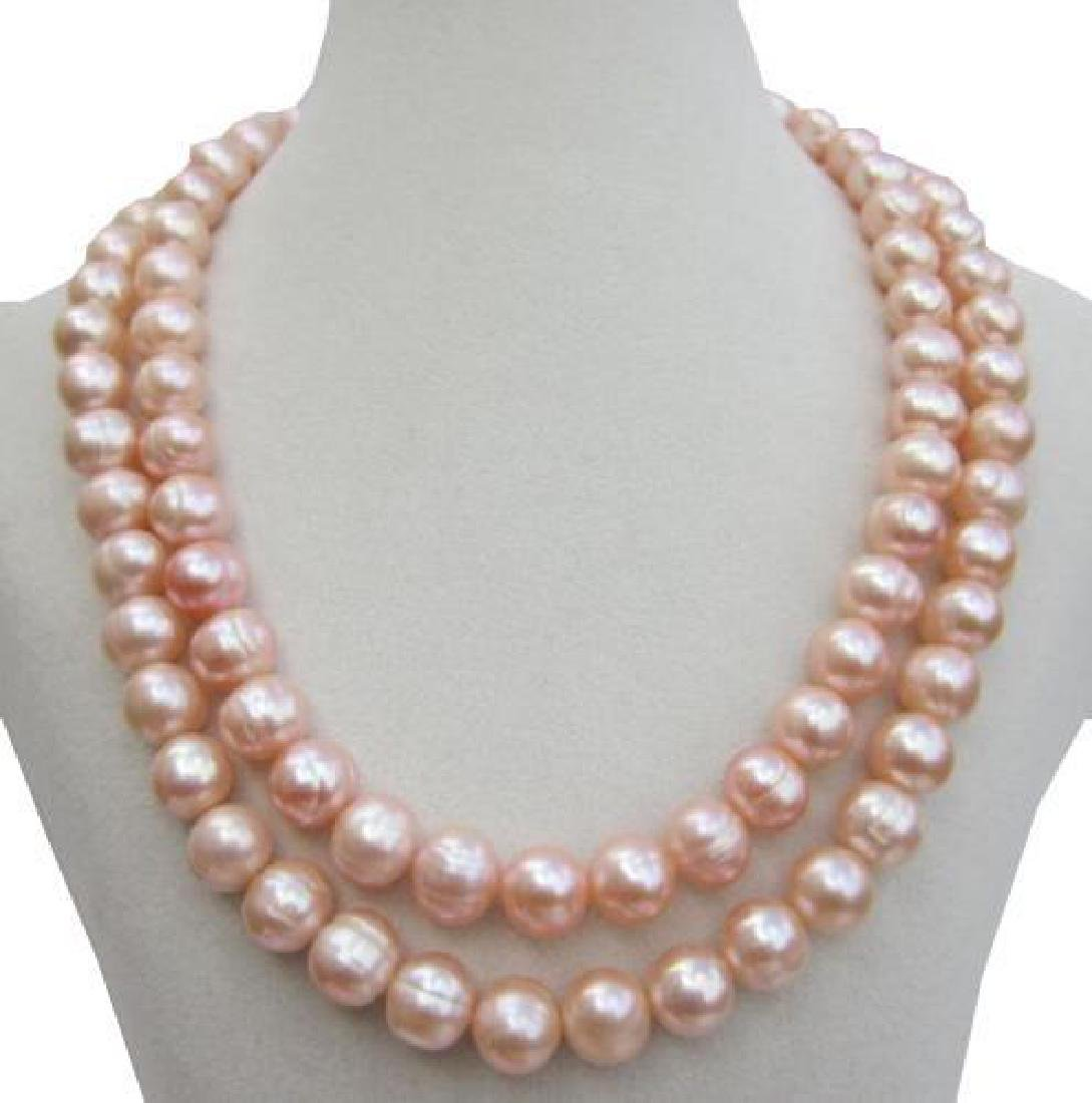 Huge Aaa 10-11mm Perfect South Sea Genuine Gold Pink - 4