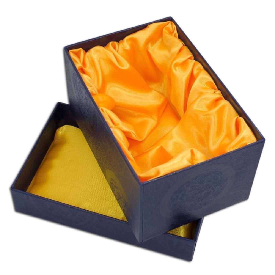 "3.15"" Crystal Rhombus On Blue Enamel Faberge Inspired - 2"