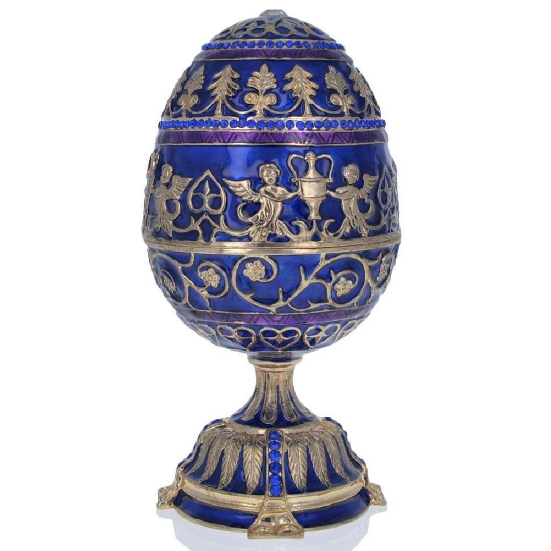 """1912 Tsarevich Faberge Egg 5.5"""" - 3"""