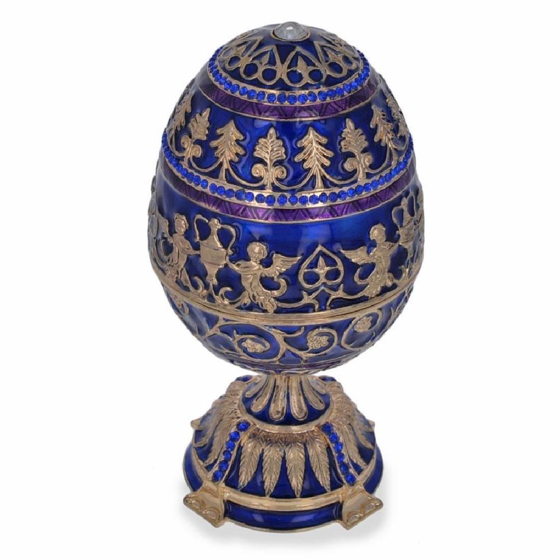 """1912 Tsarevich Faberge Egg 5.5"""" - 4"""