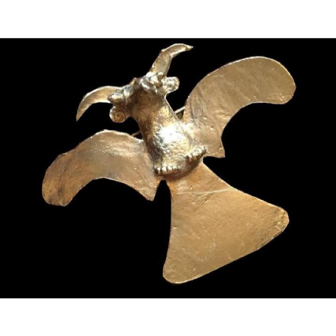 Vintage Alva Museum Ancient Bird Brooch Pin - 2