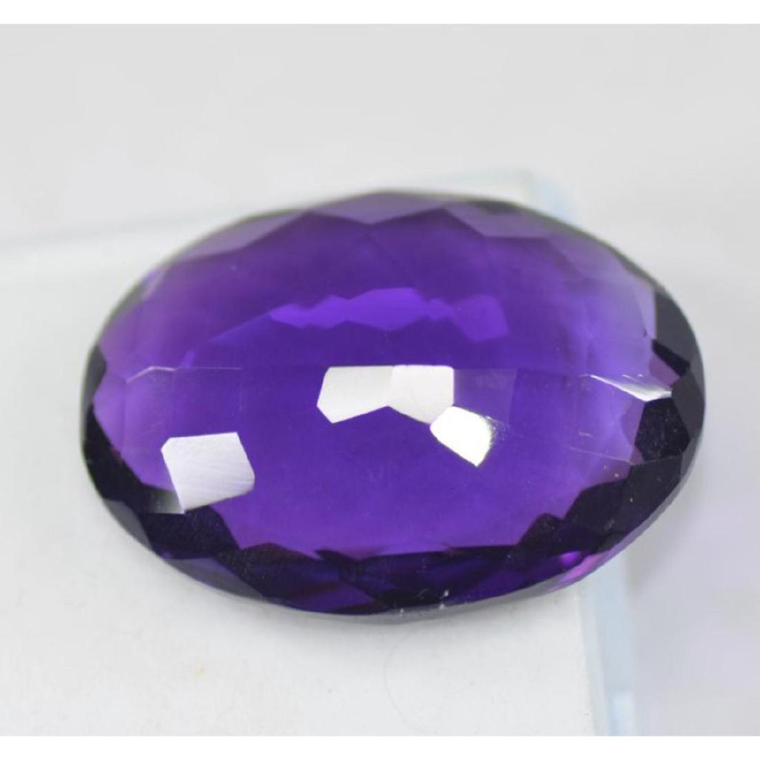 37.05 Carat Oval Cut EGL Certified Violet Amethyst - 3