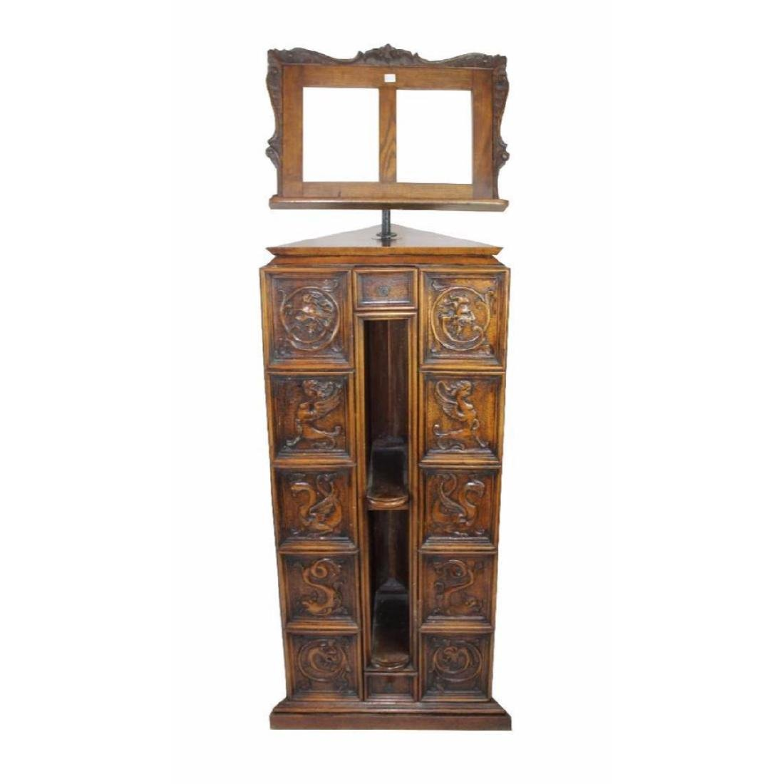 Italian Gothic Revival Carved Oak Lecturn