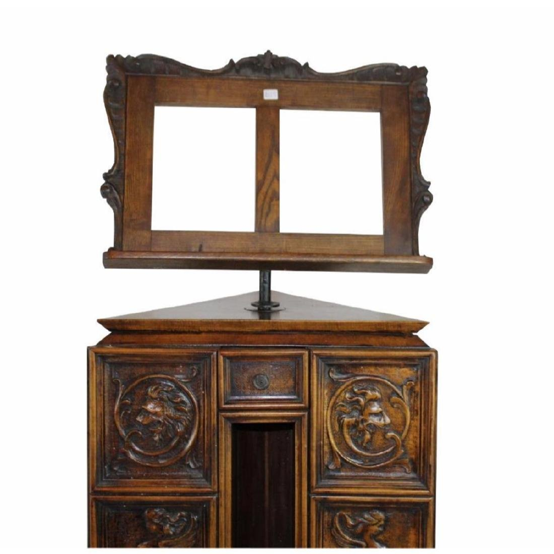 Italian Gothic Revival Carved Oak Lecturn - 2