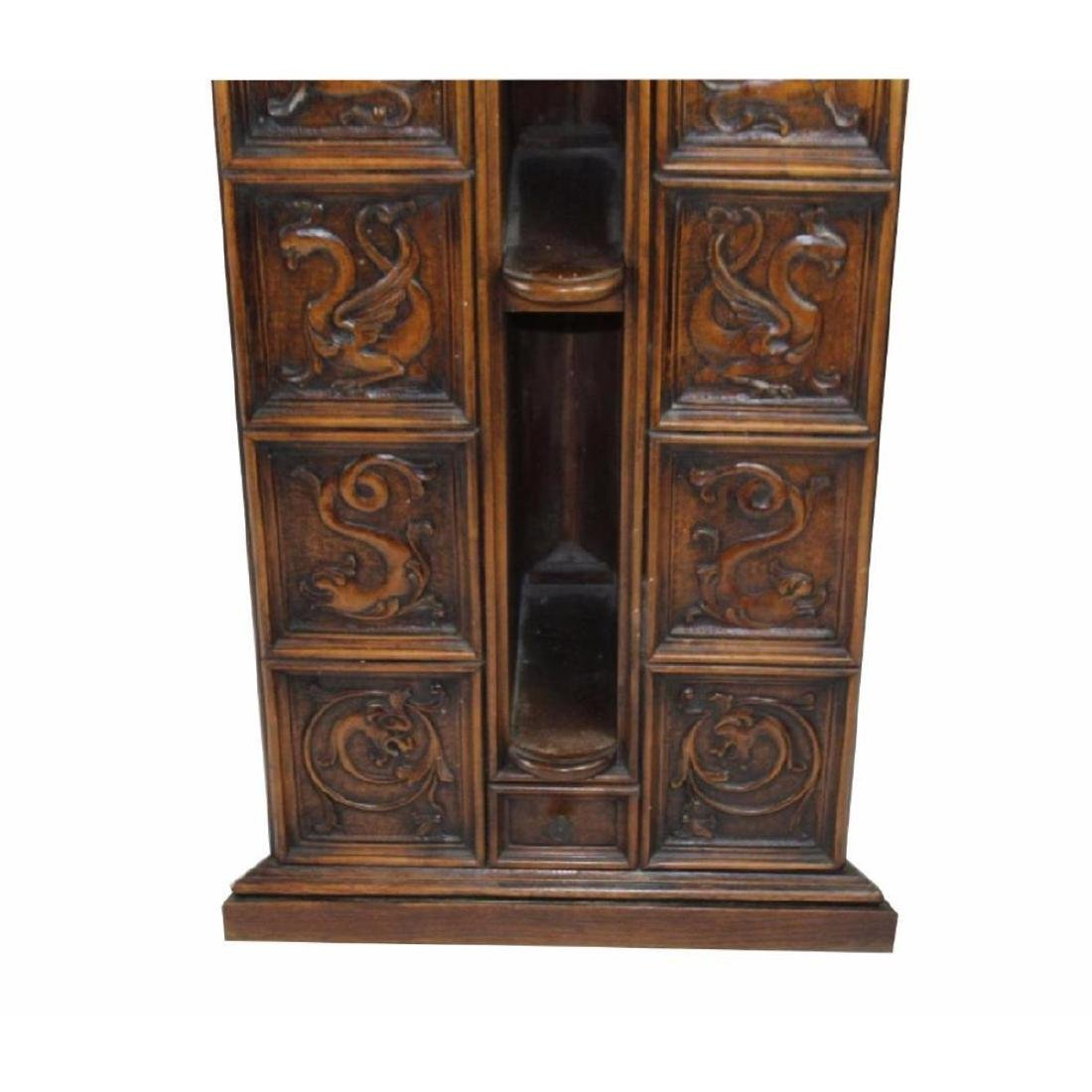 Italian Gothic Revival Carved Oak Lecturn - 3