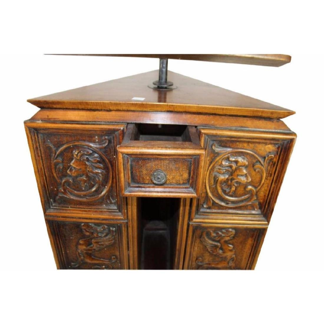 Italian Gothic Revival Carved Oak Lecturn - 4
